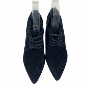 Marc Fisher Finna Suede Pointed Toe Oxford Shoes
